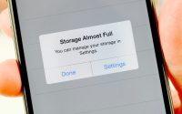 iphone full storage